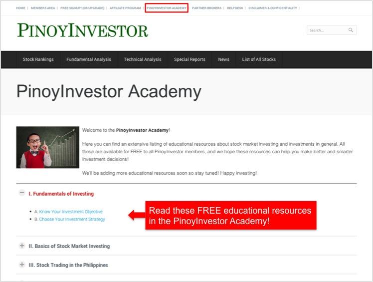 PinoyInvestor Academy