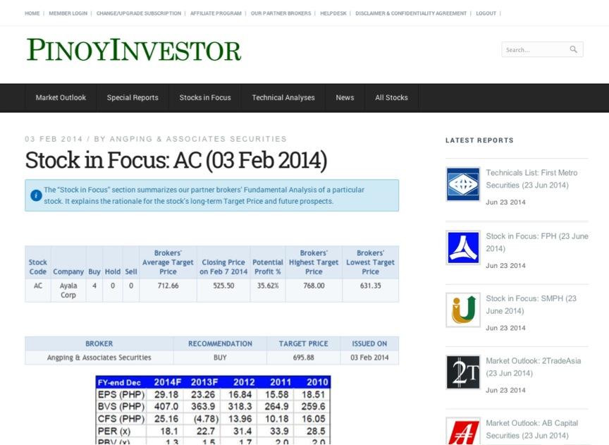 PinoyInvestor | Make smart investment decisions